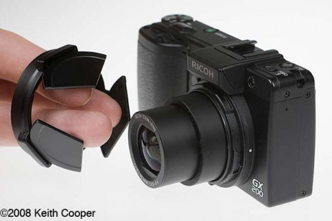 Ricoh GX200 camera and lens cap