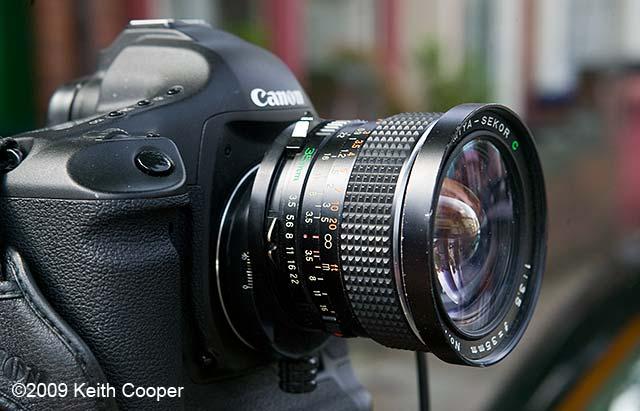 medium format lens shifted on 35mm