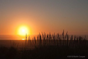 sunset at Long Beach