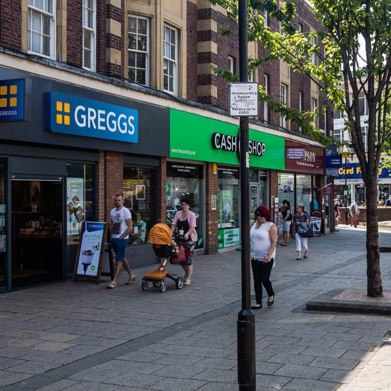 City centre businesses, Rotherham