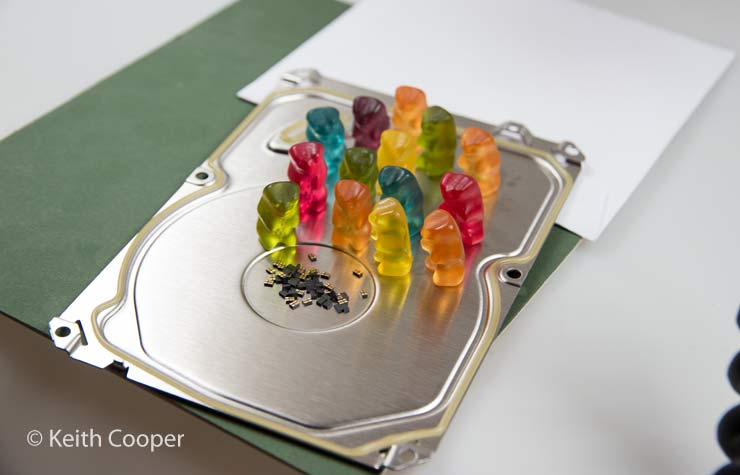 Macro photo setup - Bears around chips