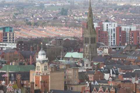 View from St. George's Tower, Leicester