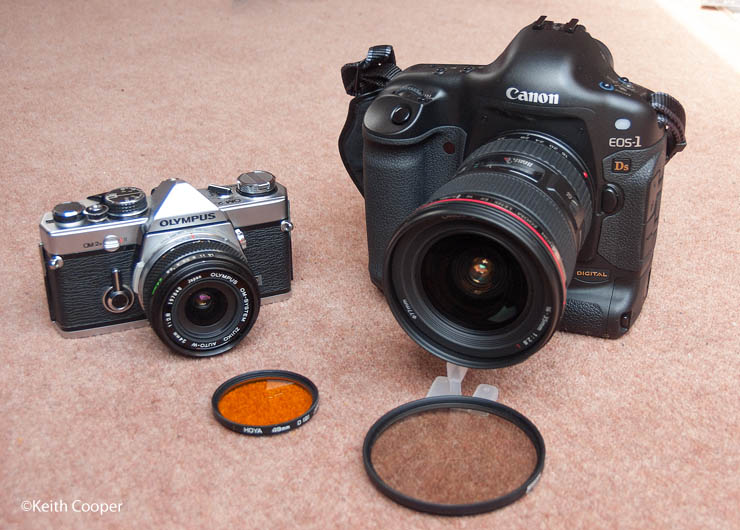 OM-2 and Canon 1Ds