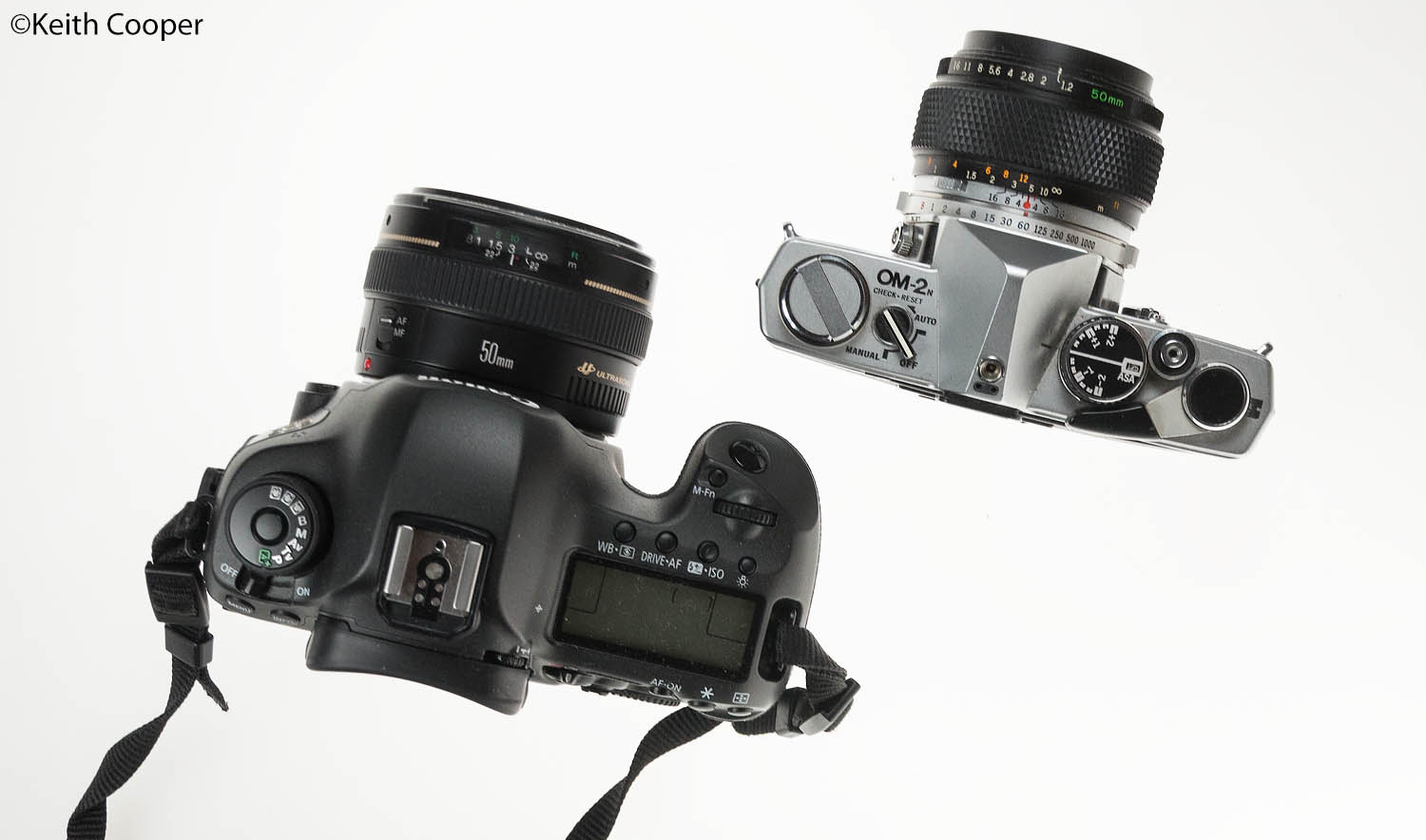 Canon 5Ds and Olympus OM-2n 50mm