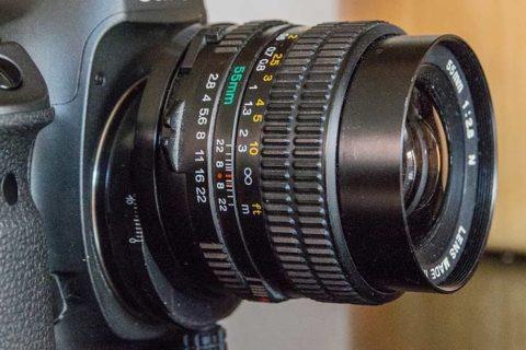 A shift lens at 50mm