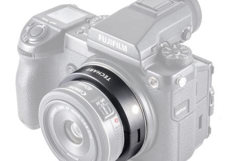 Techart EF lens to Fuji GFX lens adapter