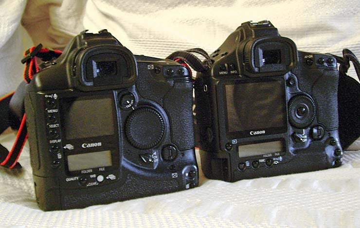 Canon cameras 1Ds and 1DS mk3