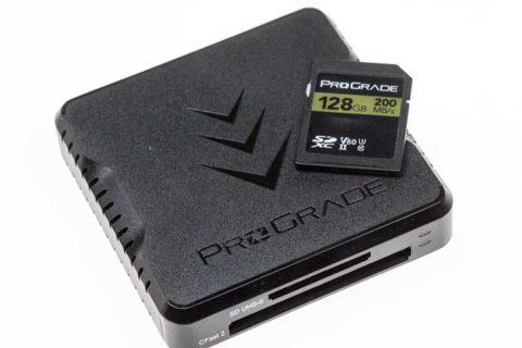 ProGrade card reader and cards