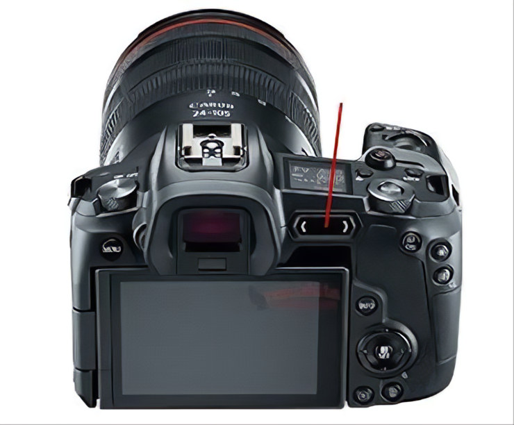 canon eos r rear controls