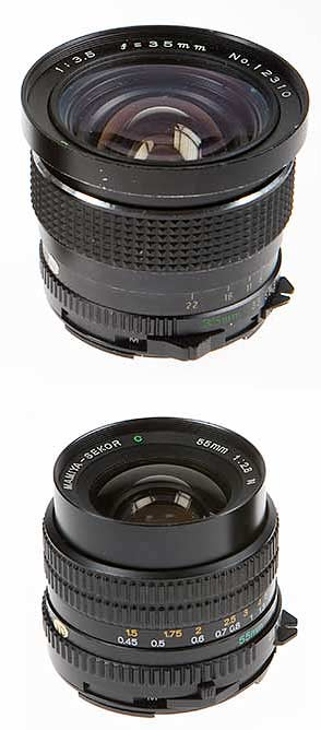 35mm-and-55mm M645 lenses