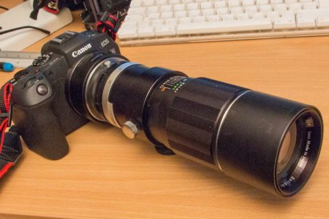 Adapted lens - Soligor 300mm f5.5