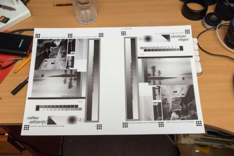 Fine tuning black and white photo printing