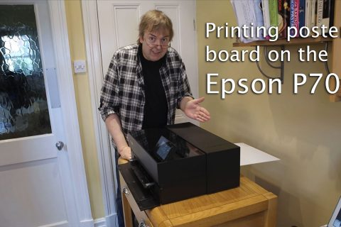 Video: Printing poster board on the P700