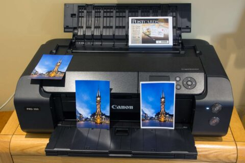 Printing postcards on the PRO-300