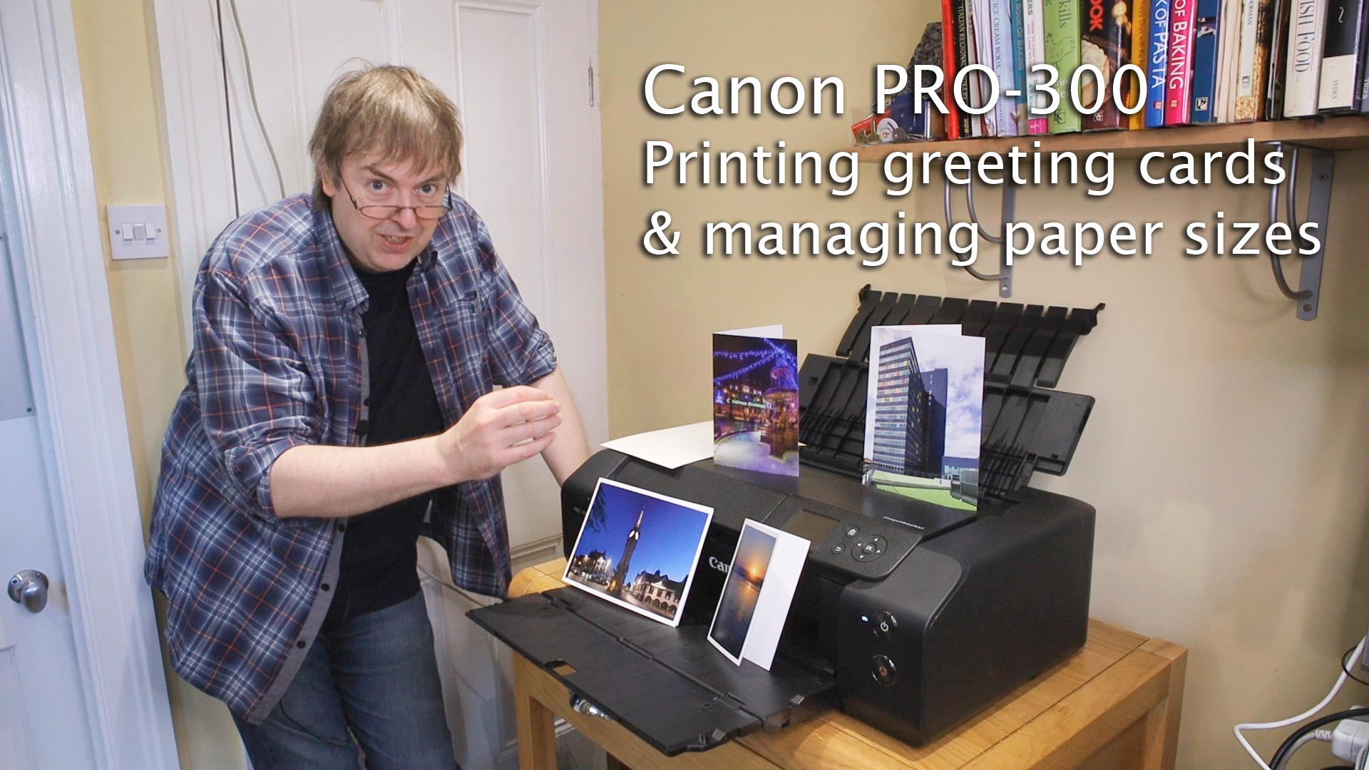 printing greeting cards on the PRO-300