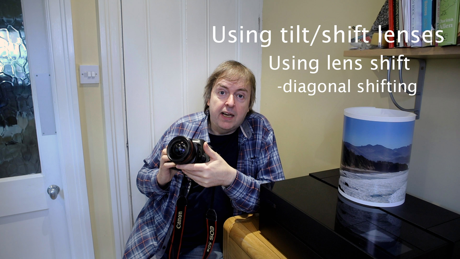 using diagonal lens shift