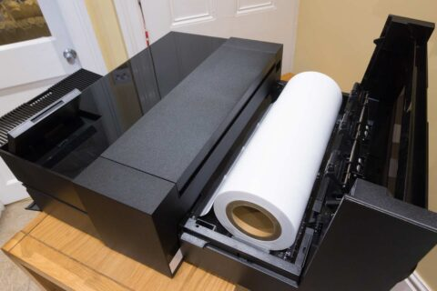 Setting up the P900 roll paper unit