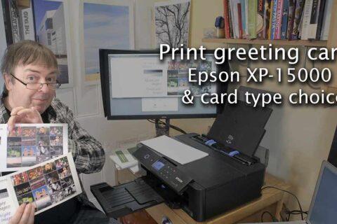 Video: Printing greeting cards - Epson XP-15000