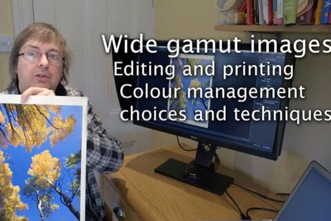 Video: Printing and editing wide gamut images